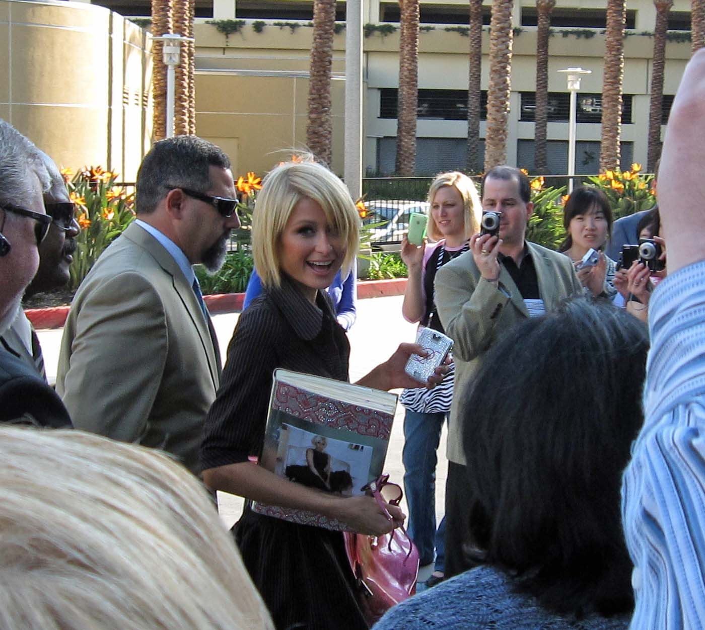 Paris brought along her scrapbook album.
