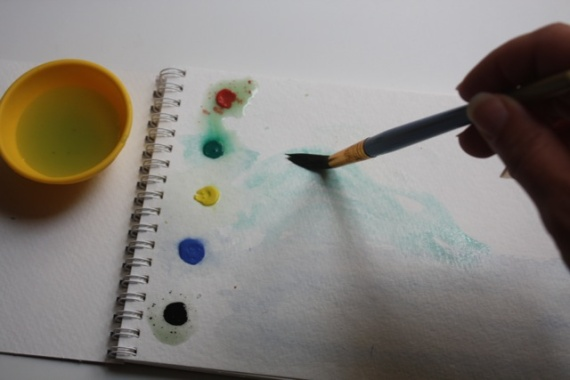 DIY Paint With Water Color Book - Think Crafts by CreateForLess