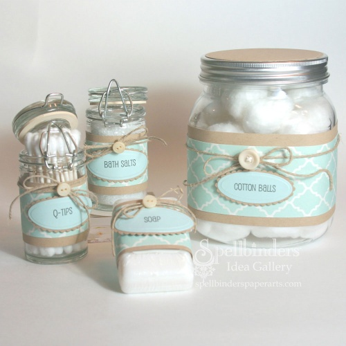 A Coordinating Bath Gift Set For You Or Someone Special. Julie Printed Her  Titles Then Cut/embossed Them With Mega Ovals LG. By Layering It Onto A  Mega ...