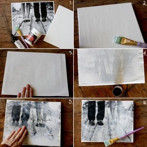 Craft Trends Transferring Photos To Canvas Think