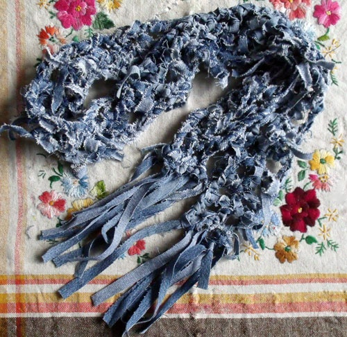 Crochet a Denim Scarf