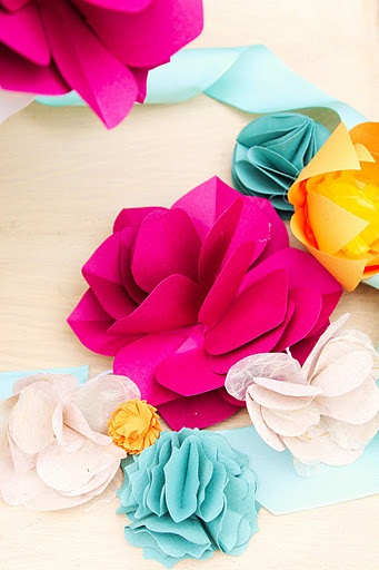 Diy paper flowers think crafts by createforless thanks to the lovely diy corespondent katie we are going to show you how to create 4 different paper flowersthat can be used in a variety of ways mightylinksfo