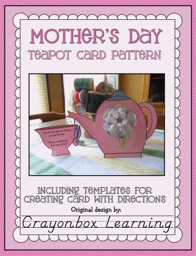 teacup mother s day card template
