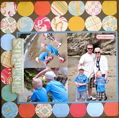 mango frost scrapbook layout