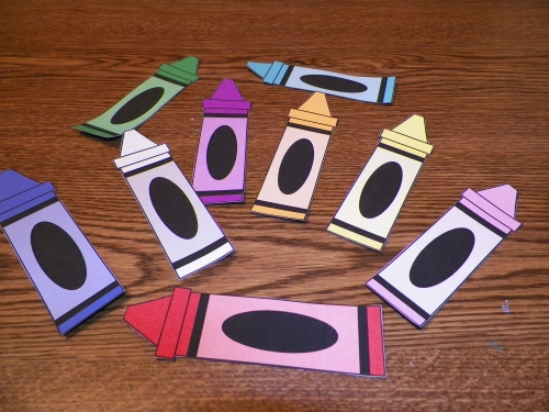 crayon magnet activity think crafts by createforless. Black Bedroom Furniture Sets. Home Design Ideas