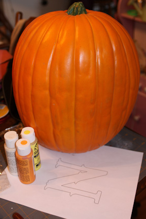 Monogram Pumpkins Supplies