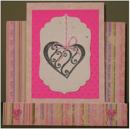 Hearts of Love Step Card at ThinkCrafts.com