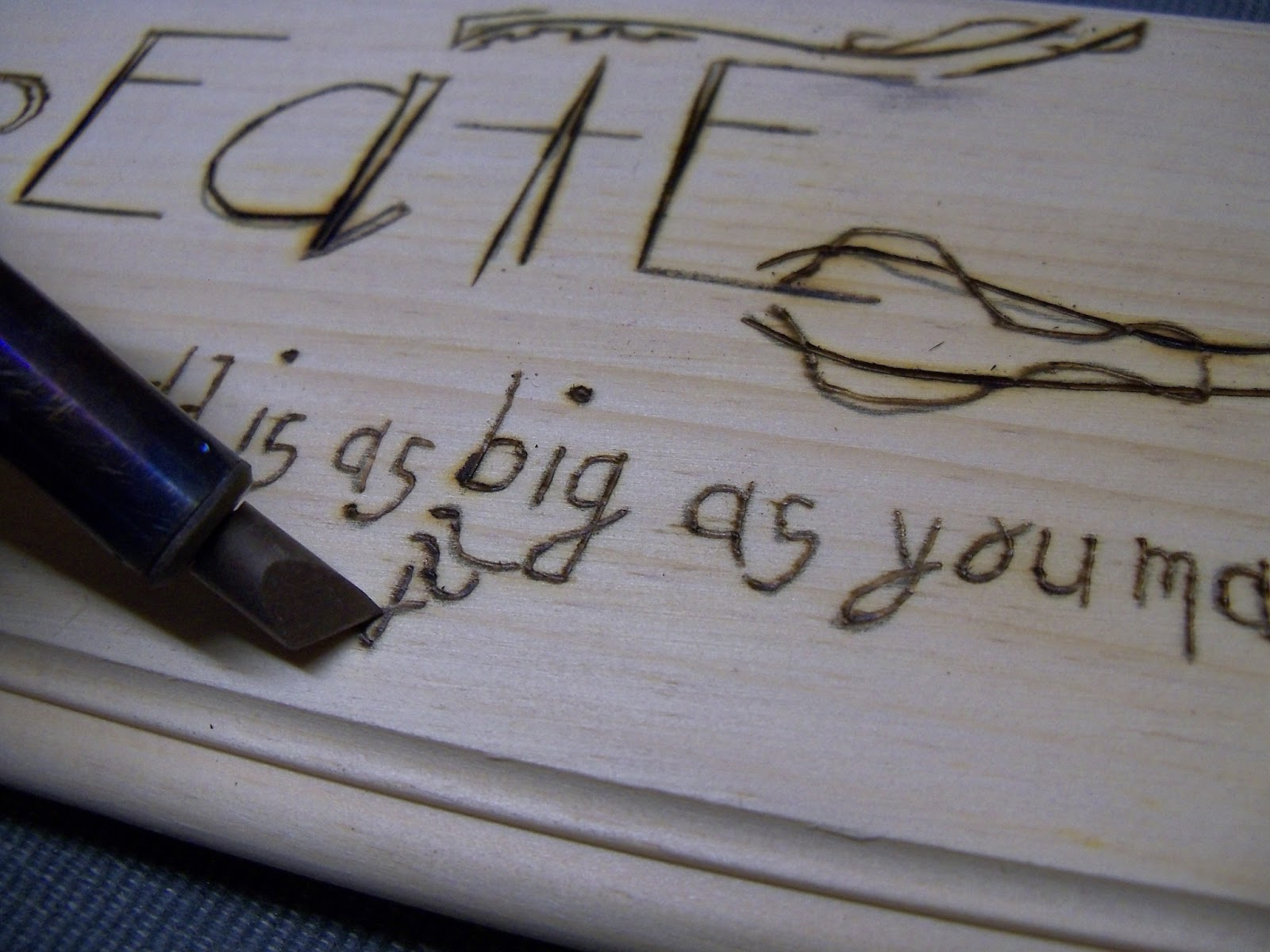 Weekend woodburning project think crafts by createforless small letters spiritdancerdesigns Gallery