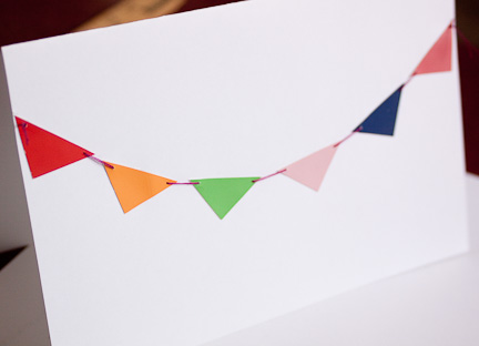 Paint Chip Bunting Card at ThinkCrafts.com