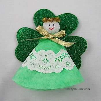 Shamrock Angel from ThinkCrafts.com