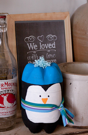 Soda Bottle Penguin at ThinkCrafts.com