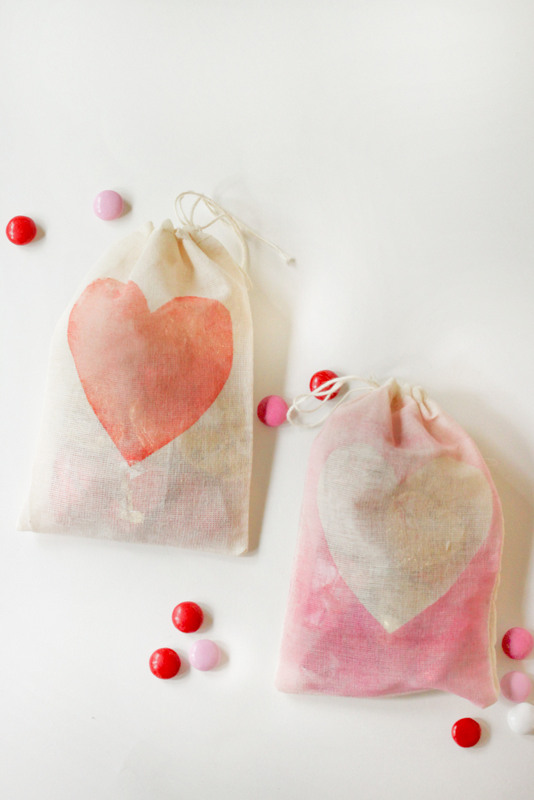 Watercolor Treat Bags at ThinkCrafts.com