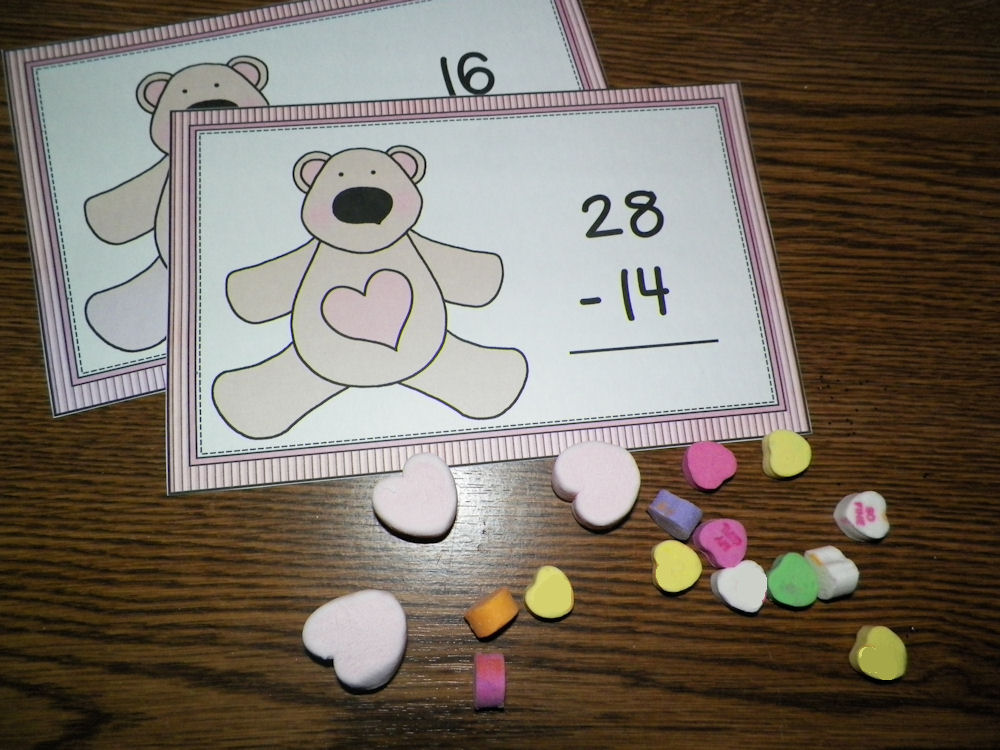 Valentine Math Mat at ThinkCrafts.com