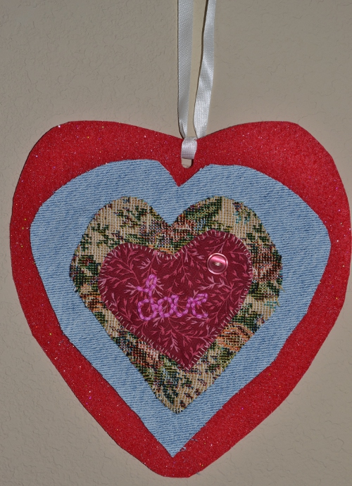 Mixed Media Valentine at ThinkCrafts.com