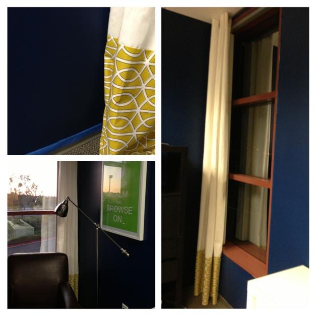 DIY Two Tone Curtains at ThinkCrafts.com