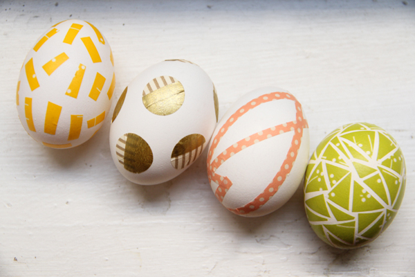 DIY Washi Tape Easter Eggs - Lovely Indeed