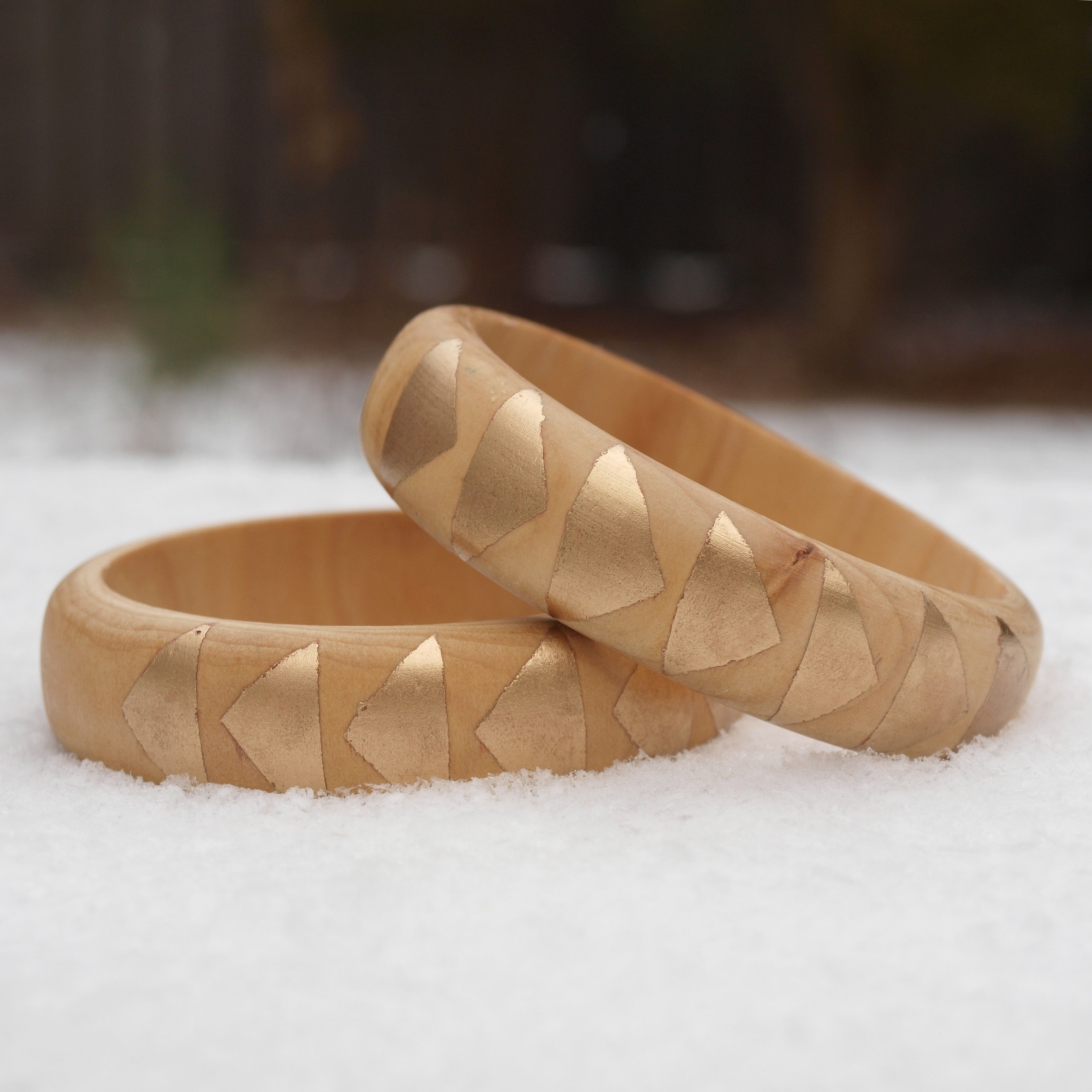 Gold Triangle Bangle By Guest Blogger Alyssa at ThinkCrafts.com