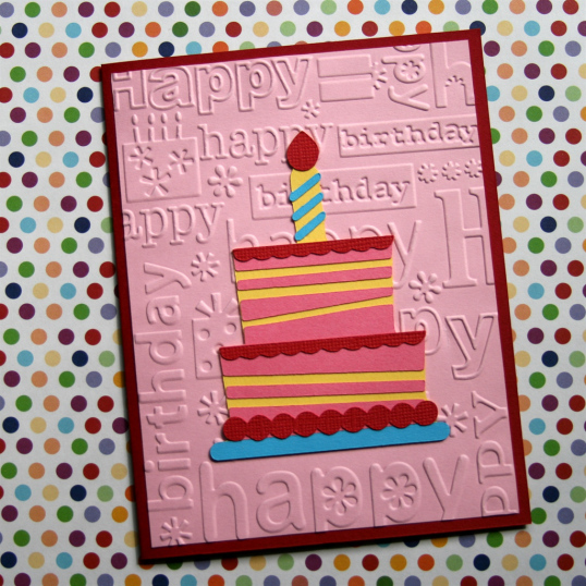 Happy Birthday Card By Guest Blogger Tina At ThinkCrafts