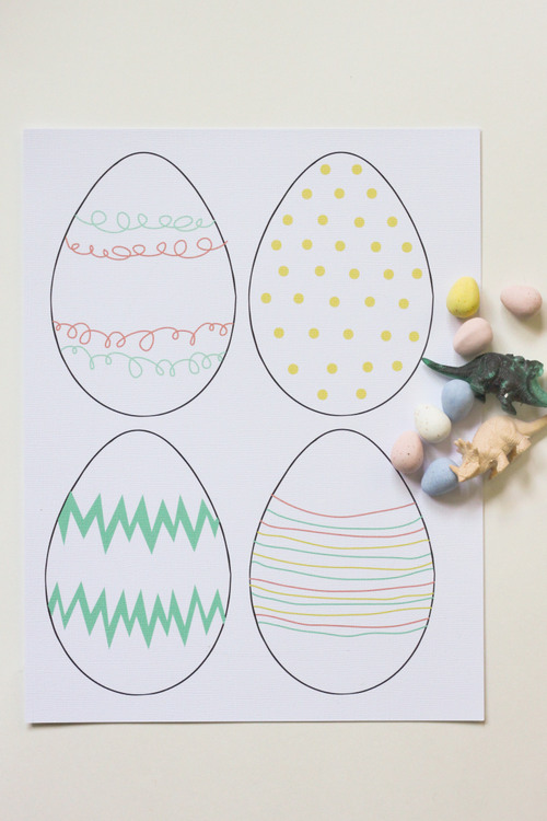 Decorating Your Paper Easter Eggs