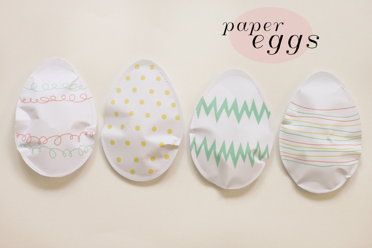 Paper Easter Eggs at ThinkCrafts.com