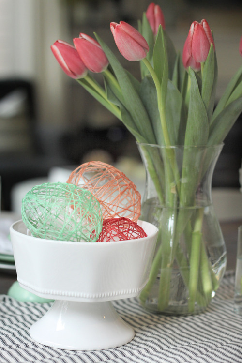 Hollow String Eggs - Think Crafts