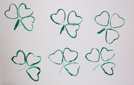 Shamrock Print from a Toilet Paper Roll at ThinkCrafts.com