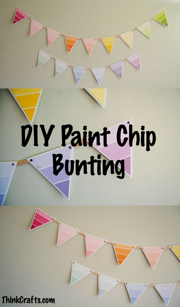 DIY Paint Chip Bunting from ThinkCrafts.com