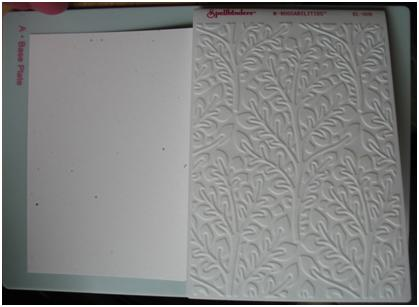 how to use darice embossing folders in grand calibur