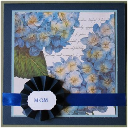 Give Mom a gift from the heart and learn how to make a lovely rosette to embellish your card.