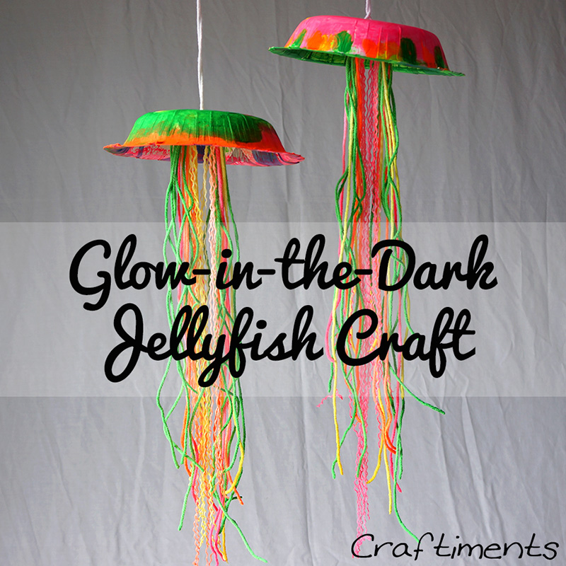 Glow in the Dark Jellyfish by Guest Blogger Kristin of Craftiments & Glow-in-the-Dark Jellyfish - Think Crafts by CreateForLess
