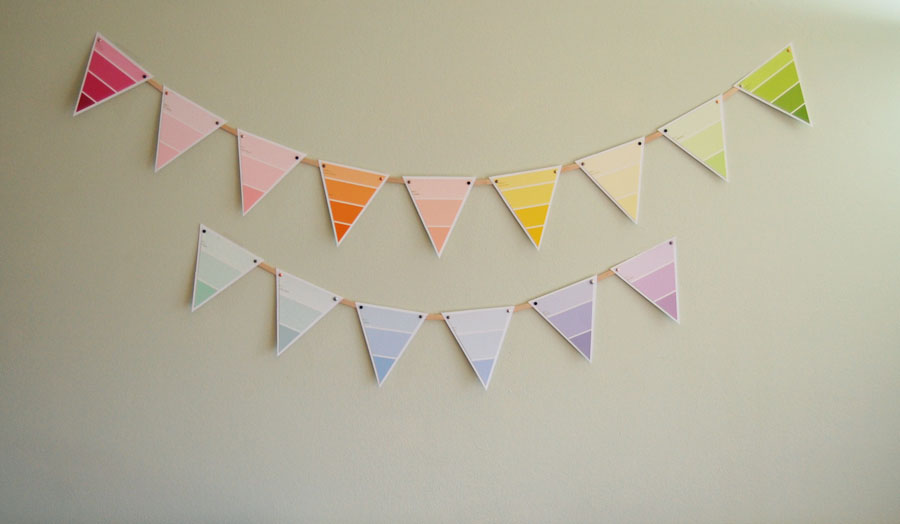 Paint Chip Bunting Home Decor