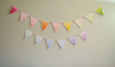 Paint Chip Bunting at ThinkCrafts.com