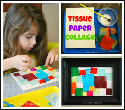 Tissue Paper Crafts Square Collage - Mess For Less