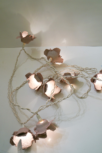 Recycled Fairy Lights at ThinkCrafts.com