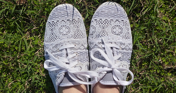 Lace Tennies by Guest Blogger Allison