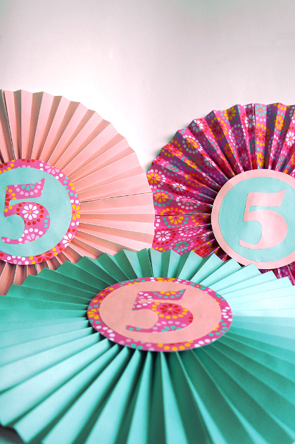 Paper Fan Birthday Decor Think Crafts by CreateForLess