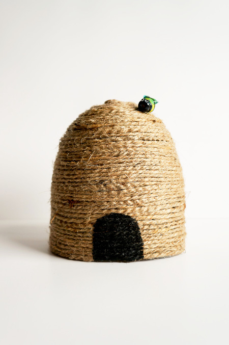 Make your own bee skep from recycled materials - ThinkCrafts.com