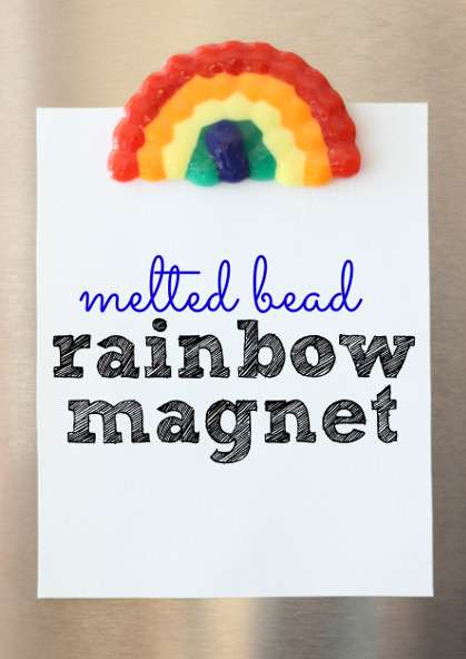 Melted Bead Rainbow Magnet - I Can Teach My Child