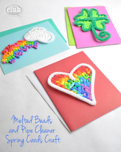 Melted Beads and Pipe Cleaner Spring Craft - Club Chica Circle