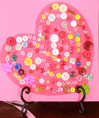 Sorted Button Valentine by Hands on as we Grow