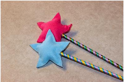 Create a magical star wand with your kids at ThinkCrafts.com