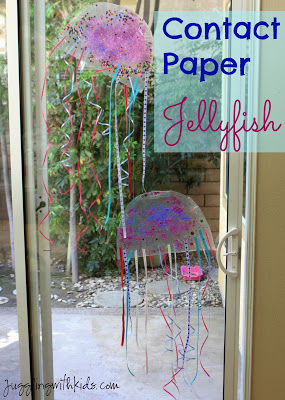 Contact Paper Jellyfish - Juggling with Kids