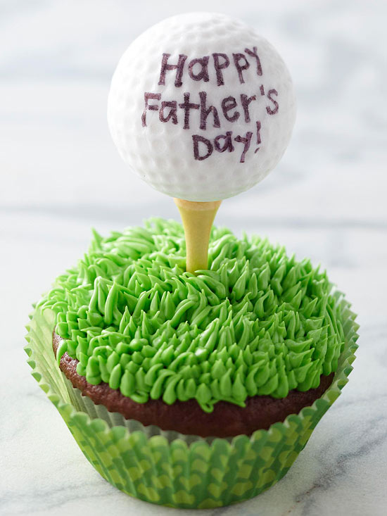 Father's Day Golf Cupcake - BHG