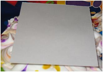 Lay Cardstock on top