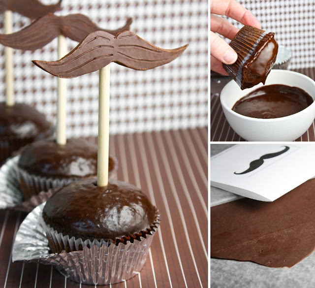 Mustache Cupcakes - Sprinkle Bakes