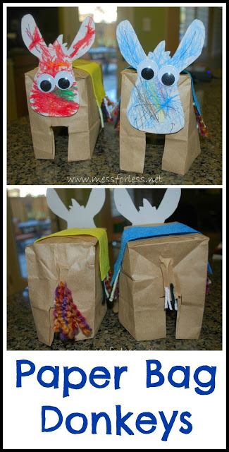 Paper Bag Donkeys - Mess for Less