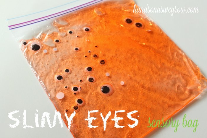 Slimy Eyes Sensory Bag - Hands On As We Grow