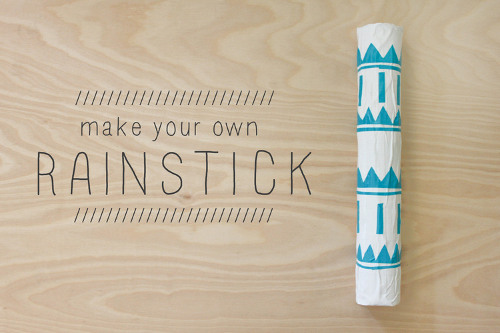 Learn how to make your own rainstick over at ThinkCrafts.com
