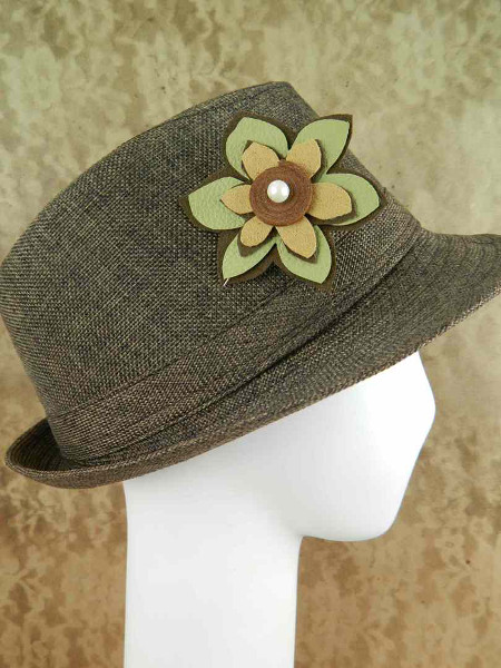Mark Montano's Scrappy Flower Hat Pin Tutorial at ThinkCrafts.com