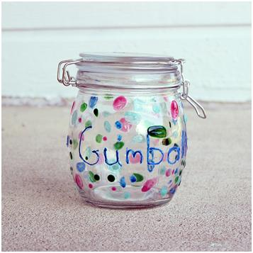 Gumball Jar with Martha Stewart Glass Paint Think Crafts by